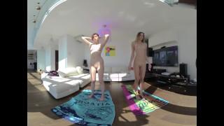 Горячие секс фильмы - Nebraska Jim Vr180 2 Gorgeous Fashion Models Naked Yoga