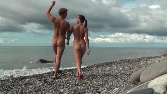 Nudists enjoying sex - Nudist beach