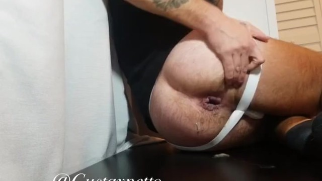 Gape gay Gustav netto pushes 6 loads out of his gaping cunt