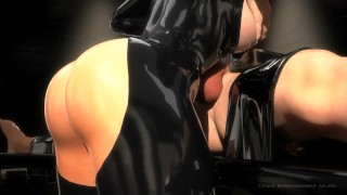 SFM 3D Busty bondage makes slave cum multiple times (blowjob, facesit)