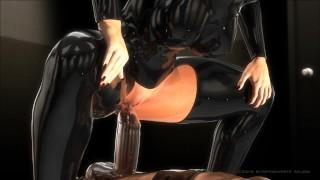 Citor3 SFM 3D Busty bondage makes cum multiple times (blowjob, facesit)