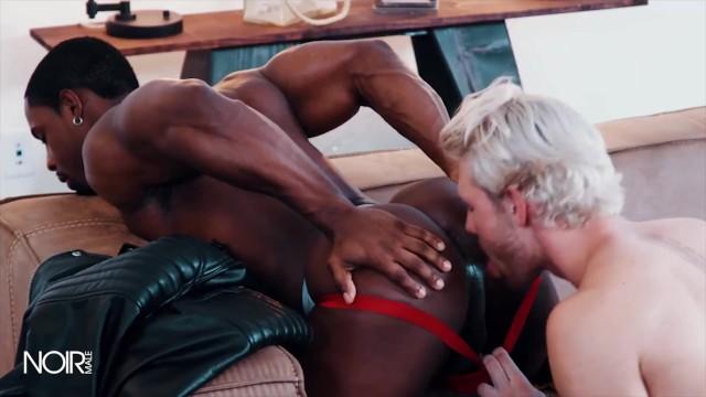 Black white twink Noirmale - white boy gets bounded by black jock