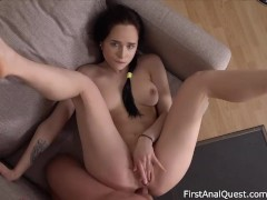 Juicy Leila's First-Ever Anal Creampie & Painal