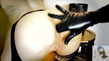 Sassy Latex GoodGirlxc Interrupted by Spanking & Hard Anal Creampie