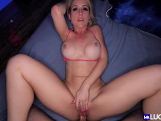 POV Fucking Hot Busty Blonde Milf Taking Cock Deep