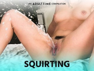 ADULT TIME Squirting Lesbians go Crazy! COMPILATION