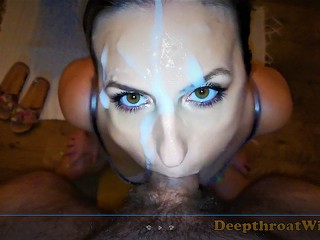 TRAILER - Incredible POV Deepthroat Blowjob, NO HANDS, FULL VIDEO FANS ONLY