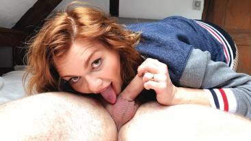 Hot Nerdy Redhead Really Loves Sucking Cock - Extended Cut 4K 60FPS