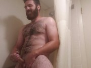 Fuck the shower, I just want to stroke my fat cock