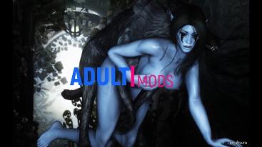 Ice monster attacked elf girl | Skyrim monster, 3d monster