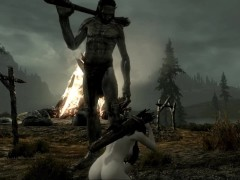 two huge giants attacked the girl | 3d monster porno, Porno Game
