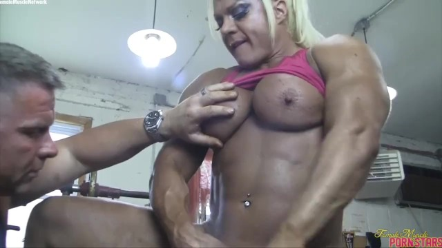 Muscle clit imagefap Blonde british muscle bombshell and her big clit fuck her man