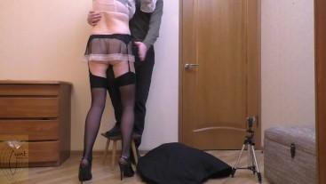 Maid humps my leg
