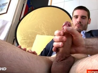 Muscle straight guy serviced for pay