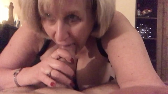 Mature ladies giving blow jobs Mature british slut gives blow job before bed time