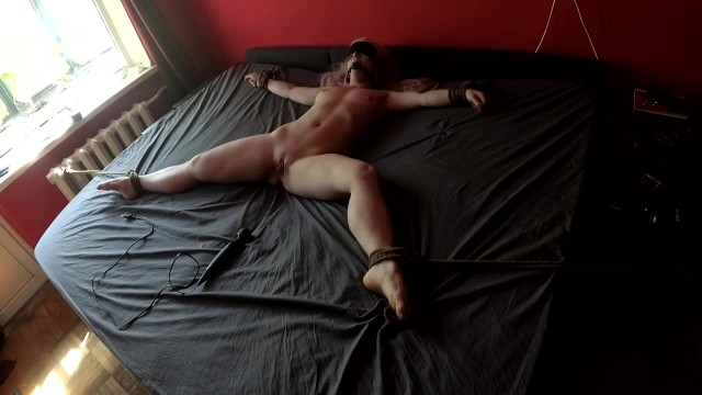 Irabbit vibrator - Girl tied to bed for vibrator torture