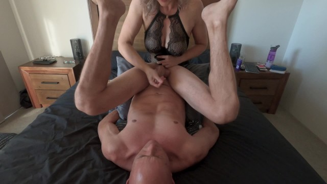 His own cum Taste of his own cum from incredible edging prostate massage min moo