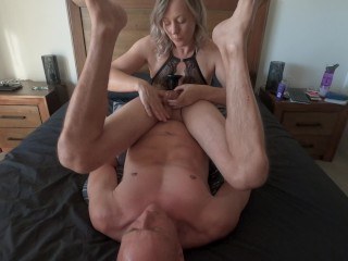 Taste of his own cum from incredible edging & prostate massage MIN MOO