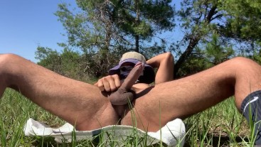 Young Guy Masturbating For The Land In A PUBLIC Preservation