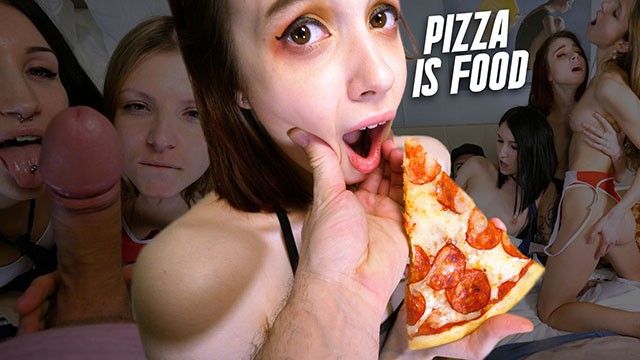 Blowjob orogy - Pizza guy delivery dick foursome