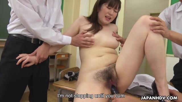 Groep sex - Japanese teacher, hanaho had wild group sex, uncensored