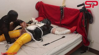 S02E03 Dominatrix Tortures Tied Up Sissy Dick with Electricity & He Cums FREE