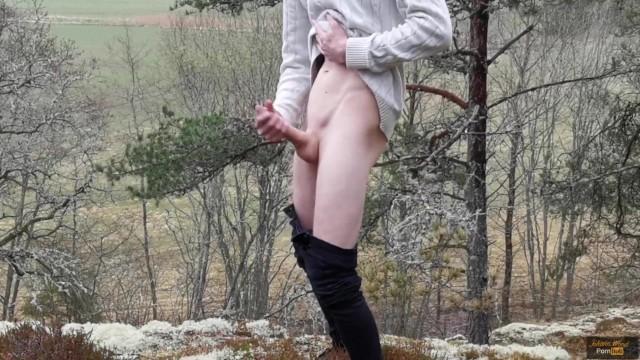 Amateur exhibitionist outdoor Exhibitionist boy shoots a massive load outdoor - johann wood