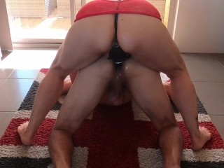 Cum Face xxx: Pegging him hard ends with face full of cum MIN MOO