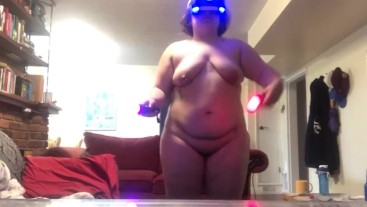 Chubby Girl Plays Beat Saber (Full Combo Easy 1)