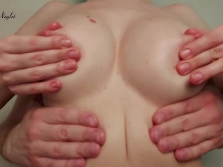 Boyfriend and Girl Oil Massage Perfect Boobs after College