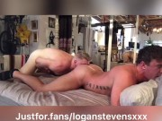 JJ Knight stretches and breeds Logan Stevens hole