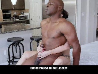 Lonely Milf Massaged By BBC And Cums