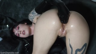 Charlotte Anal Fisting in Latex