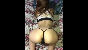 Tiny blonde anal gape fart