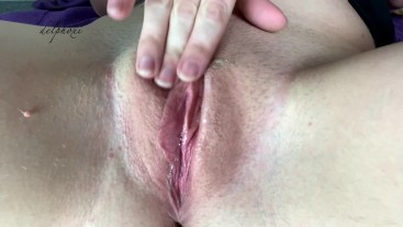 MY SHAVED PUSSY UP CLOSE