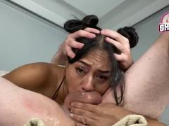 69 Throat Fucking! Use My Face Hard n Deep And Cum Twice! Throatpie Closeup