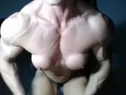 Fbb Beautiful webcam Pushups Hulk out & Veins