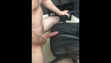 Daddy dirty talks and fucks you in his office chair, biggest cumshot yet!!!