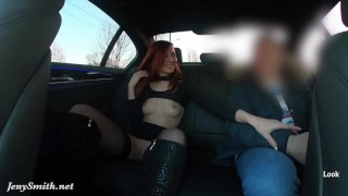 Sexy rich woman shows everything to the stranger. Elite Car Driver