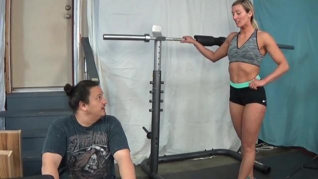Size 6 pussy - Ticklish gymrat feetlicking after workout -- larissa louder 56, size 7