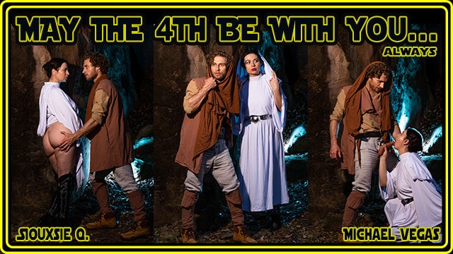 Adult star wars jedi costume May the 4th be with you starwars jedi cosplay pov outdoor blowjob
