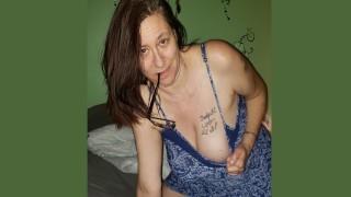 Granny Stuffs Her Panties After Big Orgasm