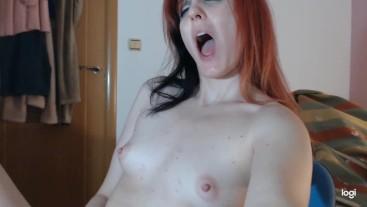 Webcam Girl Strips and Uses Satisfyer