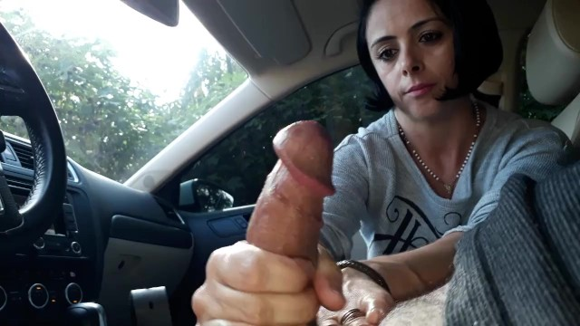 Best tease handjobs Car handjob julia