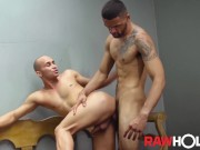 RAWHOLE Uncut Brazilian Kaliu Fucks Big Ass Bottom Bareback