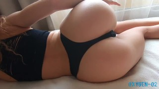 Beautiful sex on the bed with a hot neighbor. I pumped her with sperm.