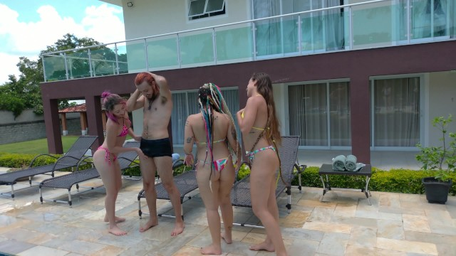 Brasileiras carnaval orgy tube Three best friends share one big dick - brazilian lesbian teens - orgy