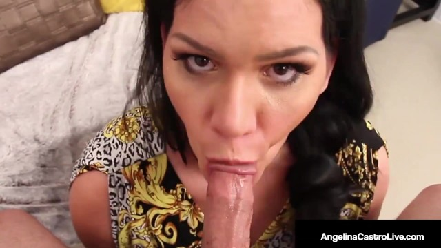 Free chubby latina pics Free ride bbw angelina castro blows lucky cock for a lift