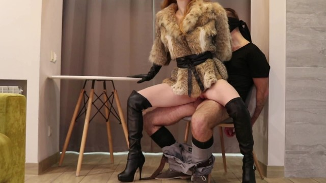 Leather glove jack off Our first femdom high heels, leather gloves, fur coat trailer - otta koi