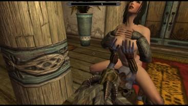 Gnome fucks a girl in a brothel | Porno Game, 3d monster fuck